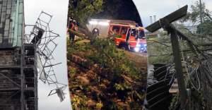 Almanya'yı vuran fırtına en az 7 ölü