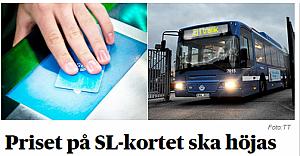 Aylık bilet kartına (Månadskort)  yapılacak zam belli oldu