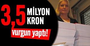 Böyle sahtekarlık görülmedi! Tam 3,5 milyon kron vurgun yaptı!