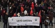 UETD, İsveç'te yakılan camiye sahip çıktı...video