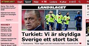 Fatih Terim'den İsveç'e teşekkürler...