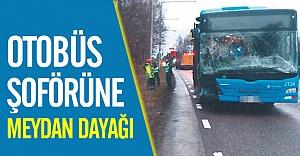 Göteborg'da otobüs şoförüne meydan dayağı