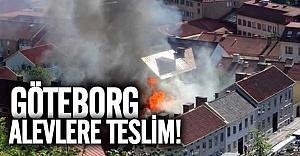 Göteborg merkezde büyük yangın!
