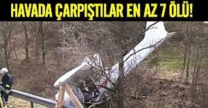 İki uçak havada çarpıştı: en az 7 ölü
