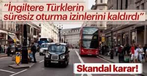 İngiltere Türklere süresiz oturumu kaldırdı
