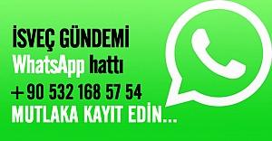 İsveç Gündemi WhatsApp hattı aktif edildi