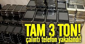 İsveç'te 3 ton çalıntı cep telefonu yakalandı
