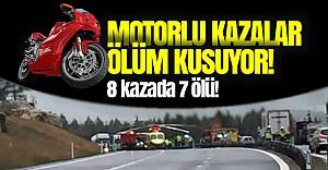 İsveç'te 8 motorlu kazada 7 ölü!