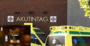 İsveç'te belediye otobüsü genci fena ezdi!