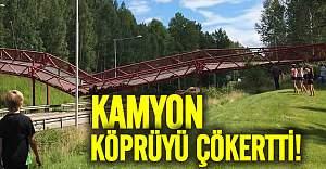 İsveç'te kamyon köprüyü çökertti