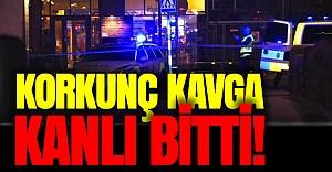 İsveç'te kanlı bıçaklı kavga!