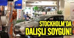 İsveç'te kuyumcuya arabayla daldılar