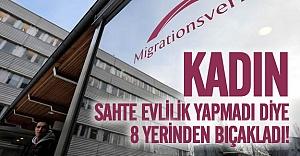 İsveç'te oturum için kadını 8 yerinden bıçakladı