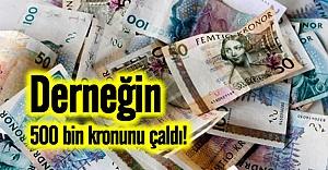 İsveç'te sayman (kassör) dernek hesabından 500 bin kron çaldı