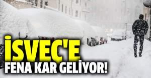 İsveç'te şiddetli kar alarmı
