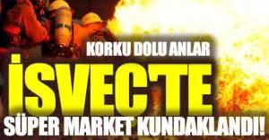 İsveç'te süper market kundaklandı