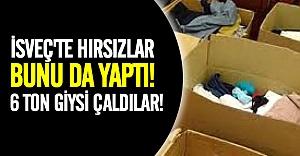 İsveç'te yardım için toplanan 6 ton giysi çalındı