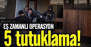 İsveç'teki eş zamanlı operasyonda 5 kişi tutuklandı