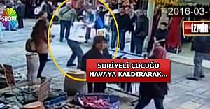İzmir'deki seyyar satıcı, Suriyeli çocuğu yere vurdu