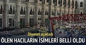 Kabe'de ölen ve yaralanan Türklerin isimleri belli oldu