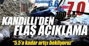 Kandilli Rasathanesi, Ege'deki depremle ilgili açıklama yaptı