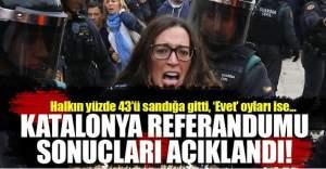 Katalonya referandumunda baskıya rağmen rekor Evet