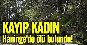 Kayıp kadın Haninge'de ölü bulundu