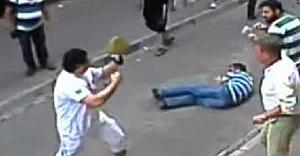 Kendisine saldıran esnafları döven turist İralandalı değilmiş!