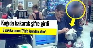Kredi kartı şifresini kağıda yazdı 17 bin kronu çalındı!