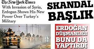 New York Times'tan skandal başlık
