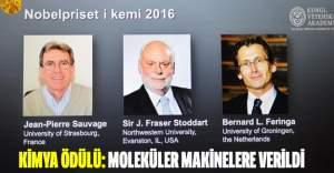 Nobel Kimya Ödülü 'moleküler makineler'e verildi