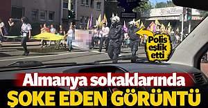 PKK'lılar Alman polisi eşliğinde yürüyüş yaptı