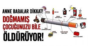 Sigara içen anne babalar dikkat!