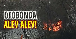 Stockholm otobanında araba alev alev yandı!