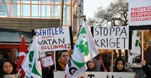 Stockholm'de terör saldırısı protesto edildi...