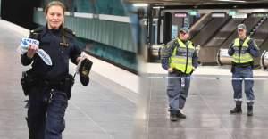 Stockholm Metrosu'nda olay