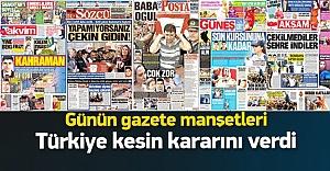 Türkiye'de günün gazete manşetleri 01.08.2015