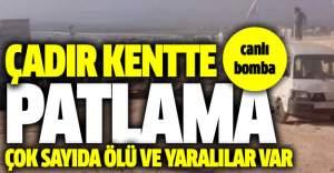 Türkiye sınırındaki çadır kentte patlama