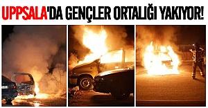 Uppsala'da gençler şehri ateşe veriyor!