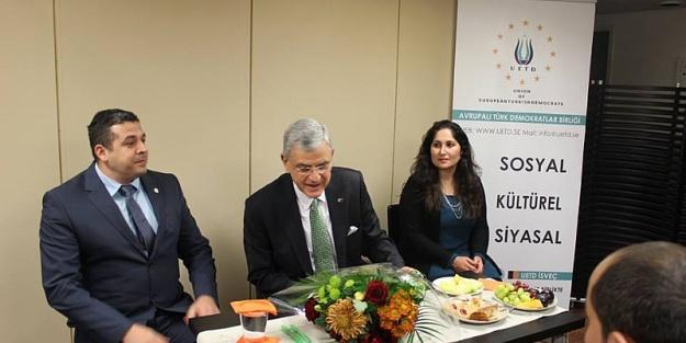 UEDT İsveç, AB Bakanı Volkan Bozkır'ı ağırladı...