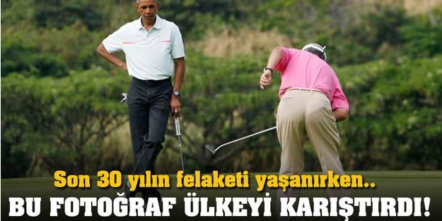 Ülkesi Selle Boğuşuyor, O Golf Maçında