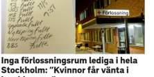 Stockholm'de doğum yapacak kadınlar koridorlarda sıra bekliyor...