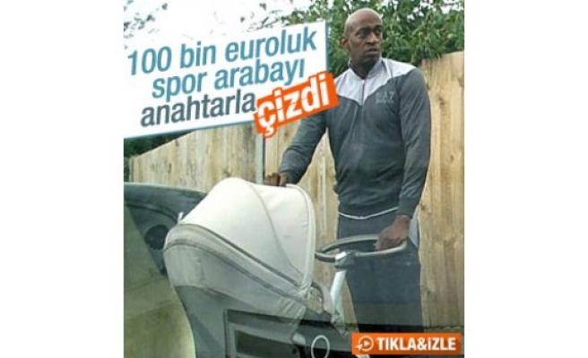 100 bin euroluk aracı anahtarla çizdiler