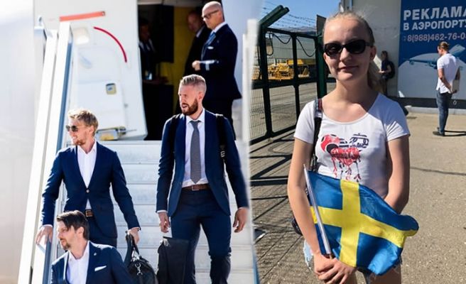 İsveç milli takımını Rusya'da tek kişi karşıladı
