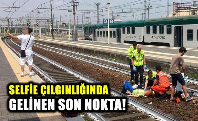 Tren kazasından sonra sosyal medyaya damga vuran Selfie!
