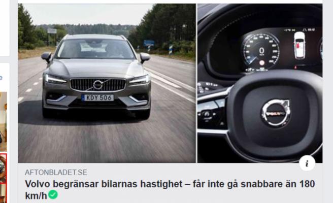 Hız tutkunlarına Volvo'dan kötü haber