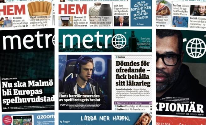 İsveç'te Metro gazetesi  iflas etti