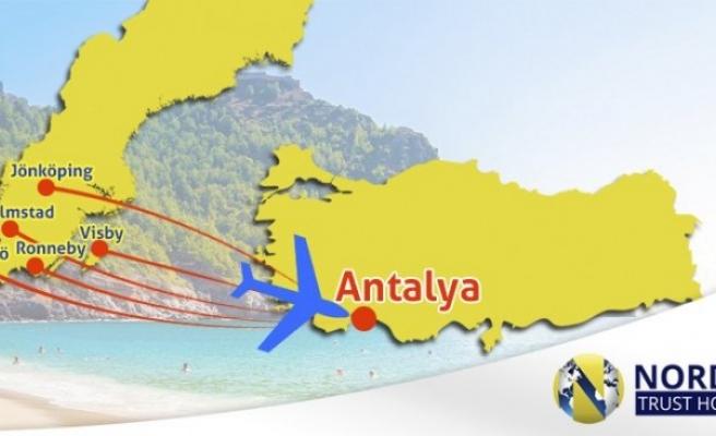 Antalya'ya bu sene rekor sayıda İsveçli geldi
