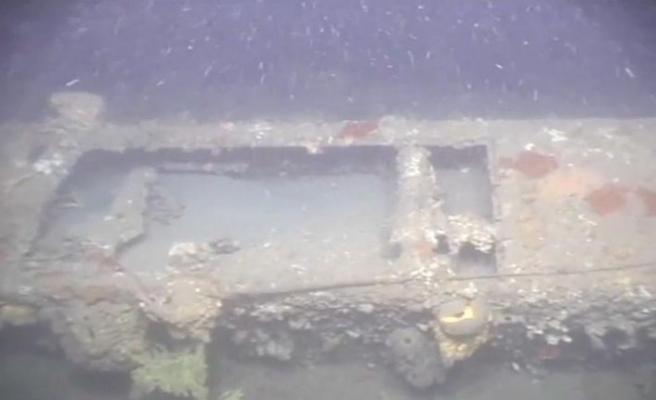 Çanakkale Savaşı'nda batan İngiliz denizaltısı görüntülendi