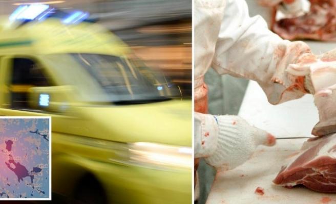 İsveç'te kasap çalışanı kendini kesti